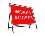 Works Access Sign
